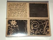 Artistic Windows Hero Arts  Wood Mounted Rubber Stamp Set New Flowers French