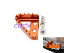 KTM BILLET frein arrière Pédale Pointe / Step PLAQUE 125 150 250 350 450 Orange