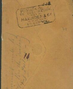 USA Cover PRIVATE POST RARE US & GB LIVERPOOL HARNDENS France Paris 1849 S160