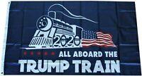 TRUMP TRAIN 2020  ALL ABOARD THE TRUMP TRAIN FLAG MAGA TRUMP 2020 FREE SHIPPING