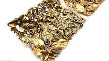 Vintage Shoe Clips Baroque Ornate Goldtone 3D Musi Heavy 1960s