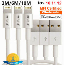 Apple MFI Certified Lightning Charger USB Charging Data Sync Cable Cord For iOS