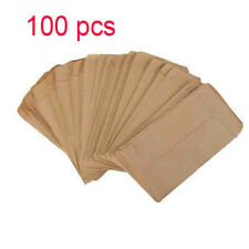 100pcs Kraft Paper Bags Cookie Candy Gift Bag Protective Isolation Package New