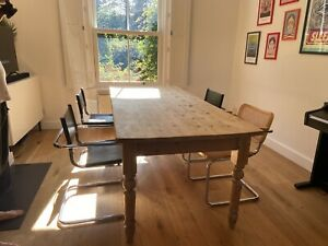 Stunning Antique Farmhouse Pine Dining Table 7ft 8-10 Seater