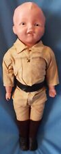 """Horsman 1917 Antique Rookie Policeman 16"""" Composition Doll in Original Outfit"""