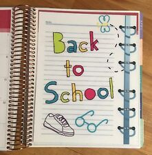 Back to School Two Sided Dashboard Inser for use with Erin Condren Life Planner