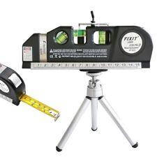 Laser Level For Horizontal Vertical Measure Line Tape Adjusted With Ruler Tripod