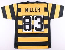 Heath Miller Signed Pittsburgh Steelers Bumble Bee Throwback Jersey (JSA COA)