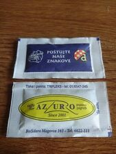 ZAGREB ~ CROATIA Caffe Bar AZZURRO Travno ~NK DINAMO small caffee sugar bag pack