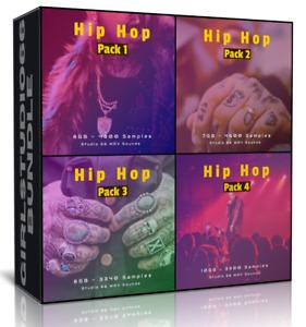 Hip Hop Bundle Packs 1-4 Wav Loops for FL Studio, Bitwig, Logic, Cubase, Ableton