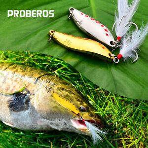 5pcs Fishing Spinner Spoon Baits 5g-28g Metal Crankbait Lures Bass Tackle