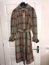 La Redoute X SOEUR Mac Coat Trench Size 14 40 Checked Tartan Red Mustard RRP£499