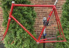 64cm Red Edoardo Bianchi 25in Road Bike Frame with Fork & Headset
