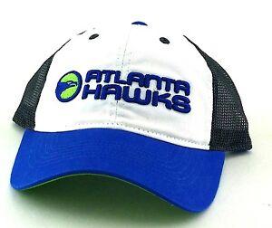 Atlanta Hawks New Adidas Mesh Trucker Women Ladies White Blue Green Era Hat Cap