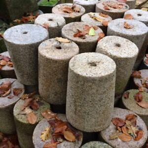 SET OF 8 - 150/180mm CLEARANCE Granite Tapered Round Staddle Stone/Pad Settle