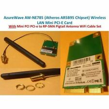 802.11 b/g/n wifi wireless mini pci express card with RP Cable + Antennae