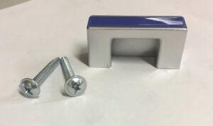 Maniglia pomolo x mobili armadi cassetti interasse 32 mm in ABS e alluminio blu