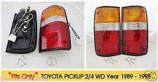 Toyota Hilux Pickup Truck 4x2 4x4 Tail Lights Premium Oem Pair 89 - 95