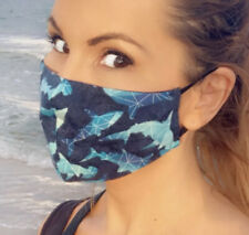Shark Face Mask Ocean Fish Sea Water Blue Beach Nautical Facemask Sharks Awesome