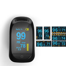 Fingertip Pulse Oximeter with Plethysmograph and Perfusion Index Measures SPO2