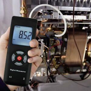 Digital Handheld Manometer HVAC Air Vacuum/Gas Differential Pressure Gauge Meter