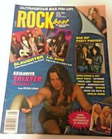 🔥 ROCK BEAT MAGAZINE May 1991 SLAUGHTER FAITH NO MORE TRIXTER LIVING COLOUR