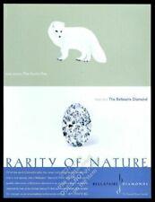 2000 Arctic Fox cute photo Bellataire diamonds vintage print ad