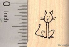 Stick Figure of Cat Rubber Stamp Part of our Stick Figure Family A17420 WM