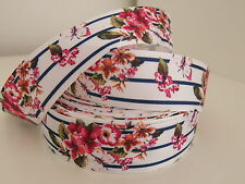 Floral Estampado de Cinta de Grogrén Pelo Clips de Pelo Horquillas Pastel Craft Cabello Moño 38mm de 1 metros