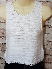Topshop Petite ivory cropped Top - Size UK4
