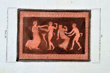 Griechische Mythologie Vasen Greek Mythology Vases ca 1850 Original Etching 72