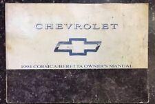 Chevrolet Corsica Beretta 1994 Owner's Manual 10234007A