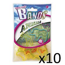 Niños Juguete Bandas Wacky Lacky Jelly Pulseras Divertida Fiesta Regalo Para Niños Animales 10pks