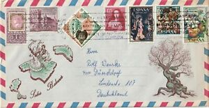 1975 Spain oversize cover sent from Palma de Mallorca to Dusseldorf Germany