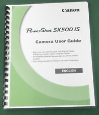 Canon PowerShot SX500 IS Instruction Manual: Comb Bound & Protective Covers!