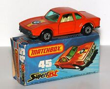 "1976 Matchbox Lesney Superfast #45 ""Bmw 30 Csl"" Mib, Excellent Original Box!"