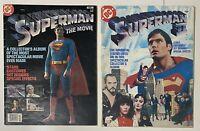 Superman the Movie C-62 and DC Special Series 25 Superman II Movie Treasury