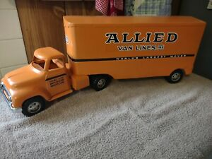 RESTORED ~ Tonka Allied Van Lines Moving Truck & Trailer ~ 1954 to 1957