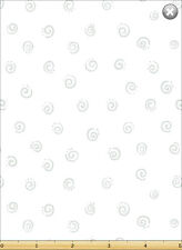 Susybee Squiggle WHITE with Grey Swirl Quilt Fabric ~ Sold 1/2 Yard #20053-101