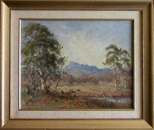 Reg Rowe (1918-2009) Original Oil Painting Cattle Country Hinterland Mt Warning