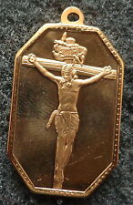 gold plated  Pendant    icon Christ  1.5x0.5 inches