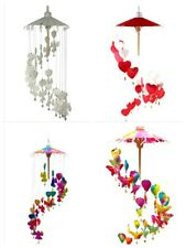 Rainbow Hanging Heart Mobile Butterfly Angels Child's Room