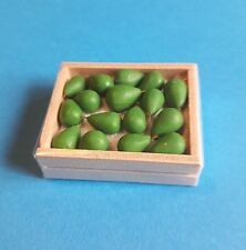 Dolls House Miniature : Wooden Box of Avocados  in 12th scale