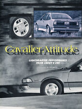 1988 Chevrolet Cavalier Z24 Original Car Review Print Article J507