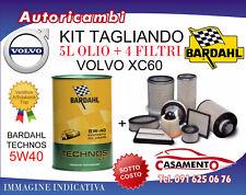 KIT TAGLIANDO VOLVO XC60 2.0 D4 133KW- 4 FILTRI + 5L OLIO BARDAHL 5W40