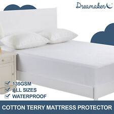 Waterproof Mattress Protector Cotton Terry Towel Absorb Pillow Cover Cot Boori