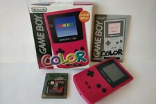 Nintendo Gameboy Color Japan Red color console,Manual,Boxed and Game set-a1021-