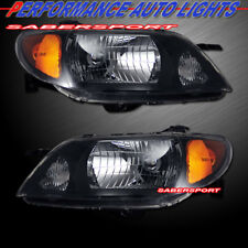 Set of Pair OE Style Black Headlights For 2001-2003 Mazda Protege 4dr Sedan