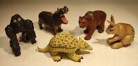 Safari Ltd. LOT - 5 Figures - Gorilla Bear Rabbit Armadillo Hippo Free Shipping