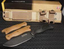 Ka-Bar Short Becker BK16 Drop Point Fixed Blade Knife Black Plain 2-Free Handles